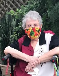 Mary Ellen Harris at SEHarris County AAUW patio wine event